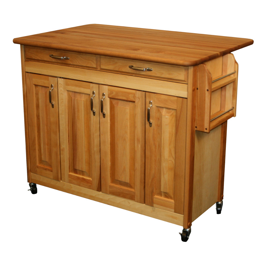 Catskill Butcher Block Island with Drop Leaf - 42