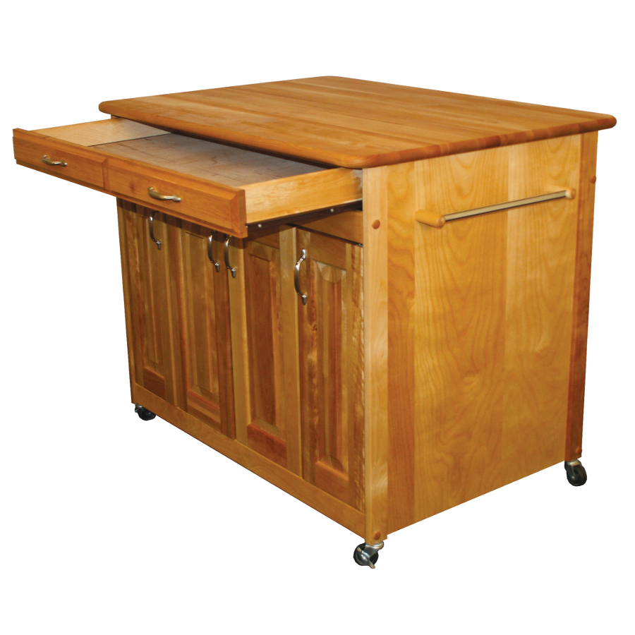 Catskill butcher block island w storage cabinets for Butcher block manufacturers