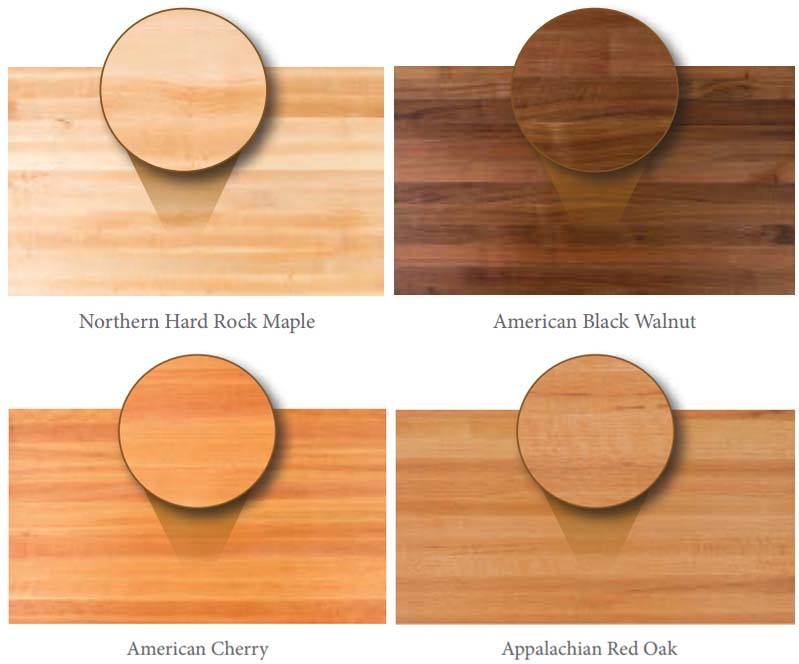 butcher block dining table wood types