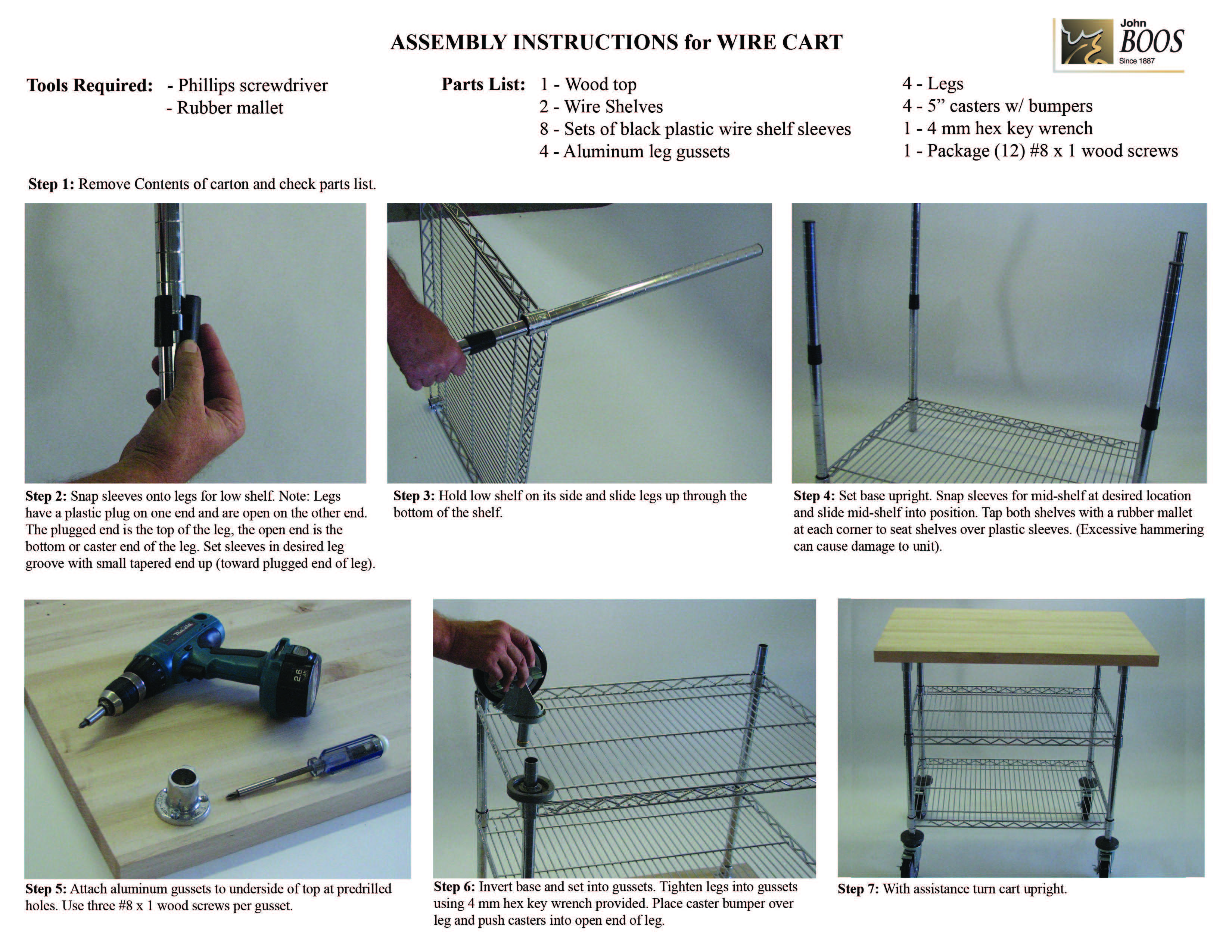 Assembly Wire Shelves - WIRE Center •