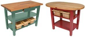 butcher block work tables