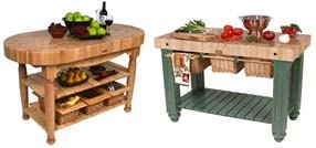 kitchen island tables with butcher block tops