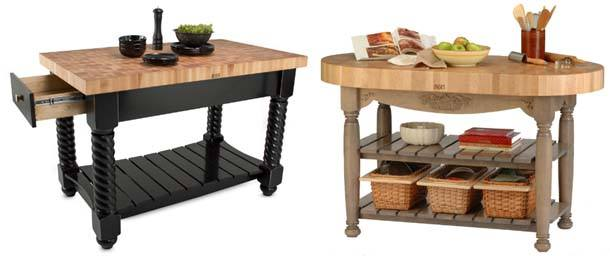 butcher block kitchen islands