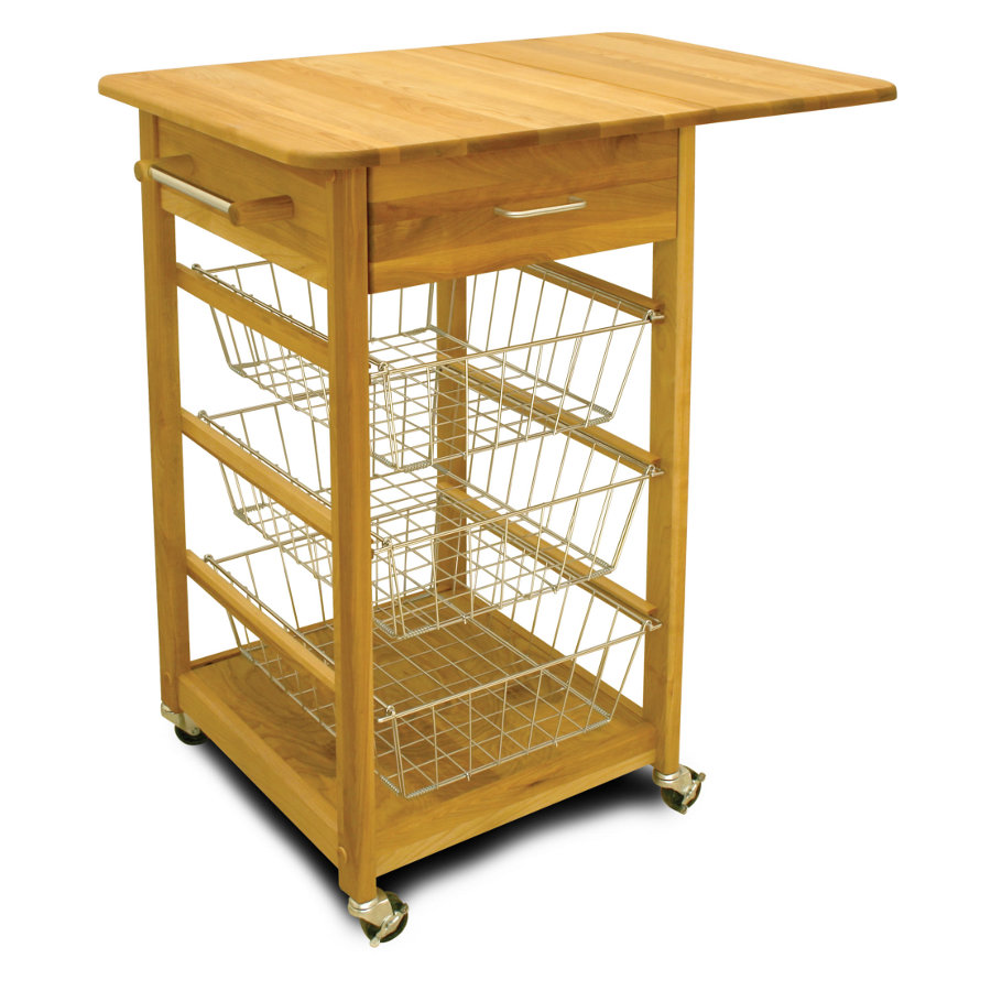 Catskill Drop-Leaf Basket Cart - 20