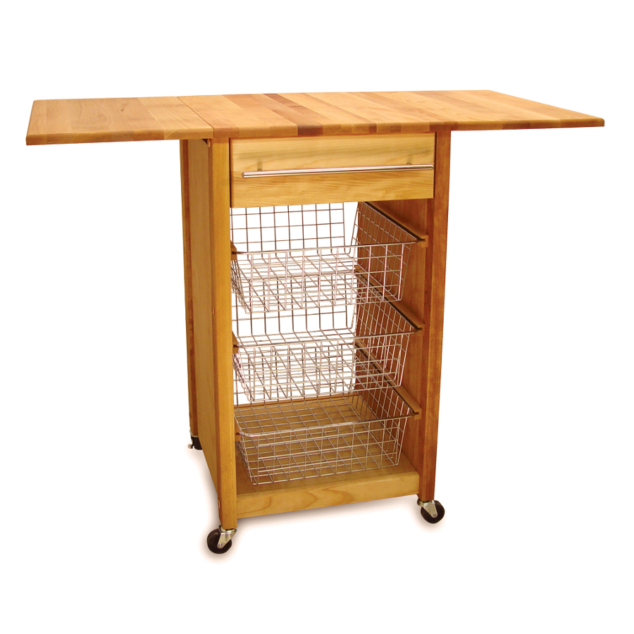 contemporary kitchen cart with sliding baskets