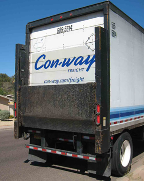 countertop delivered by truck with liftgate