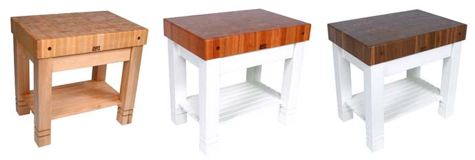 maple, walnut & cherry Homestead Butcher Blocks