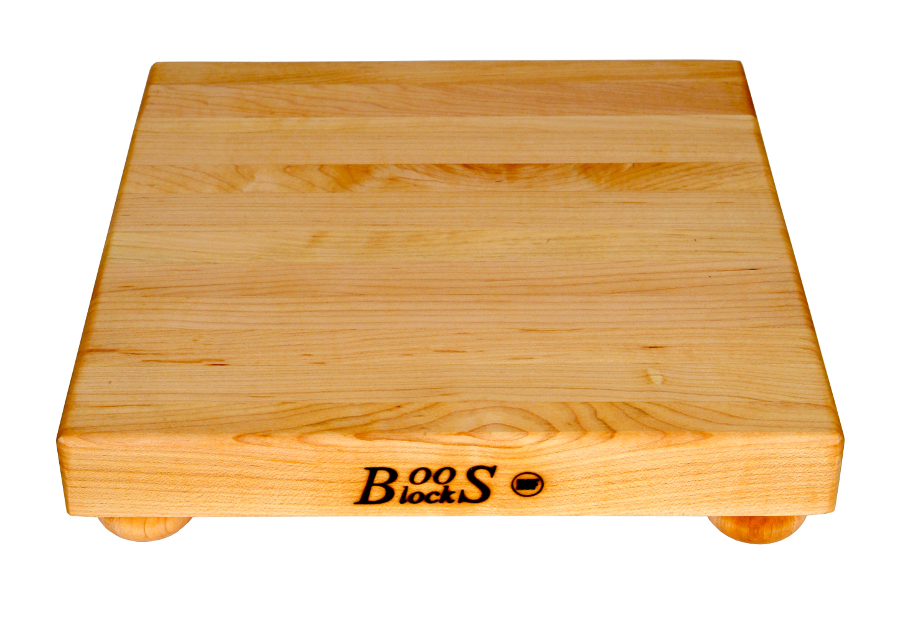 John Boos Small Maple Cutting Boards with Bun Feet - 9