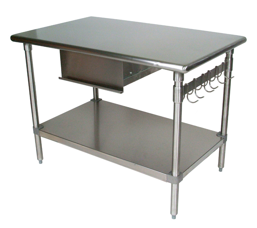 Stainless Steel Table With Shelf Shelves Shelving