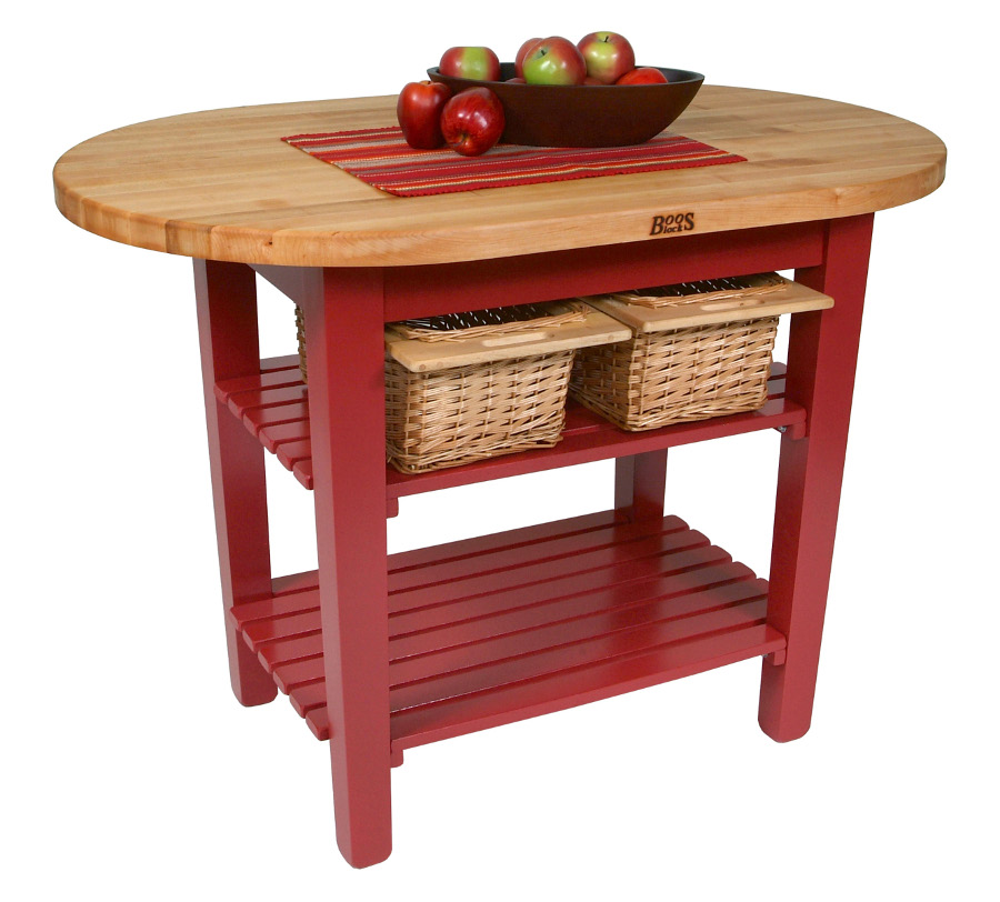 "John Boos Country-Style Elliptical Butcher Block Table - ""C-Elip"""