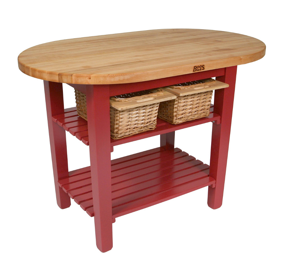 John Boos Elliptical Butcher Block Table