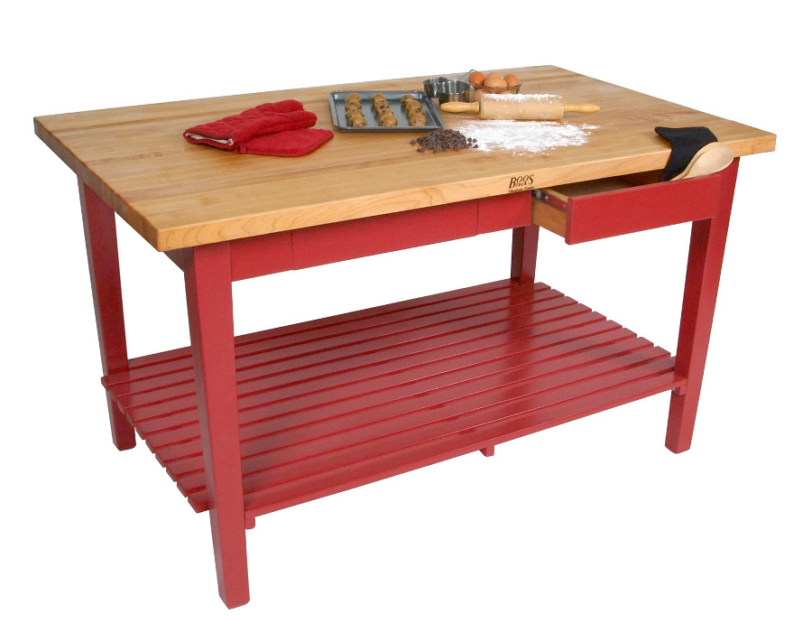 Movable Butcher Block Kitchen Island