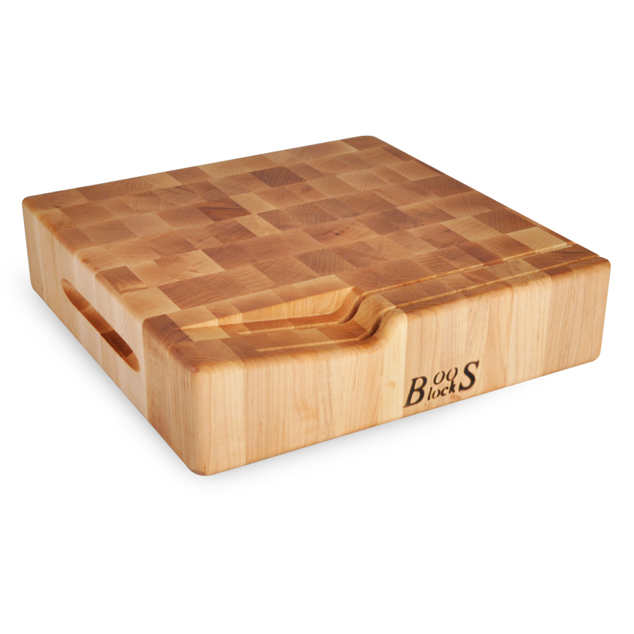 Boos 3 Inch Maple Chopping Block With Knife Slots