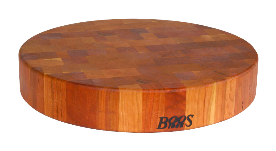 Boos Round Cherry Chinese Chopping Blocks - 2.5