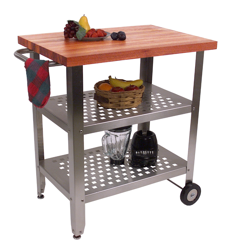 John Boos Cherry-Top Cucina Avanti Stainless Steel Cart - 30