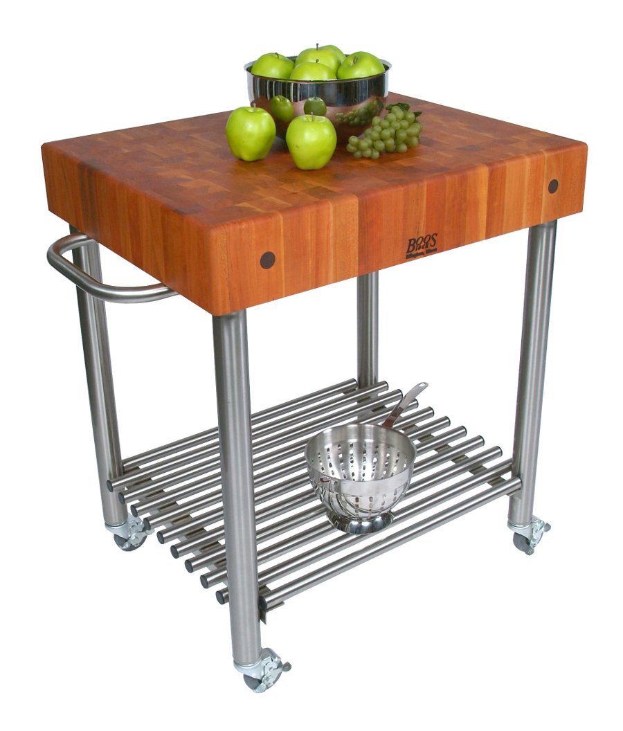 John Boos Cherry D 39 Amico Butcher Block Kitchen Cart