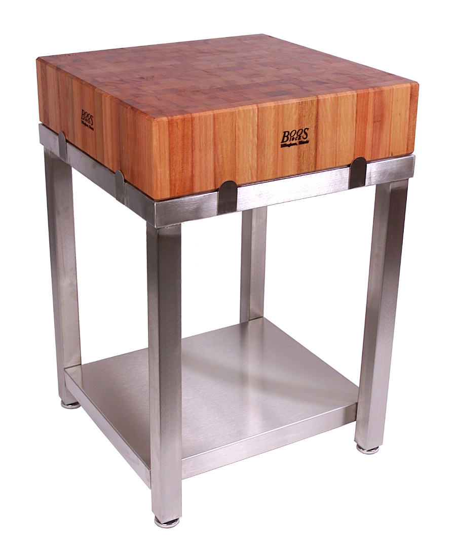 boos cherry cucina laforza butcher block on steel base