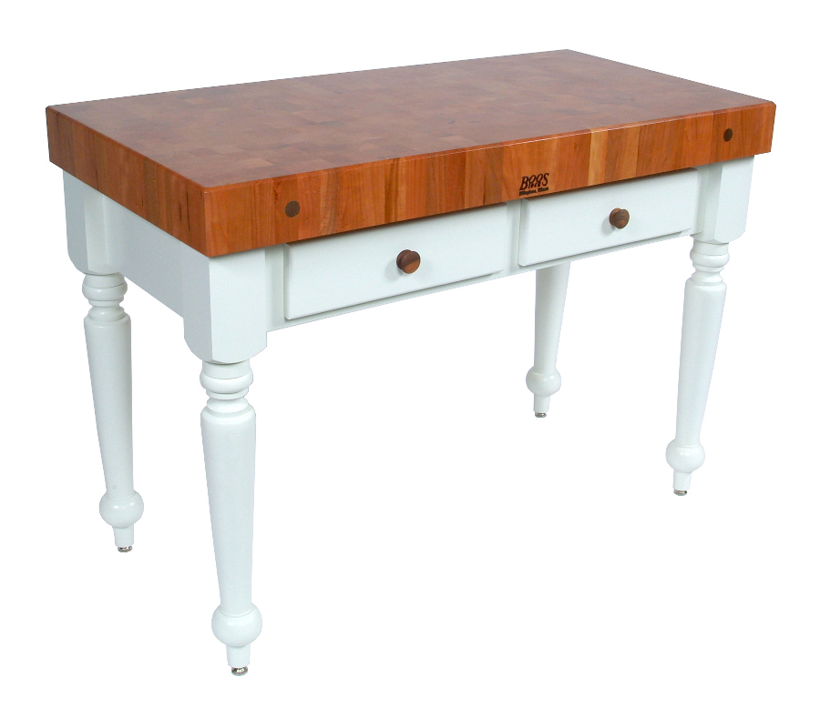 Black Kitchen Island Butcher Block Top From John Boos