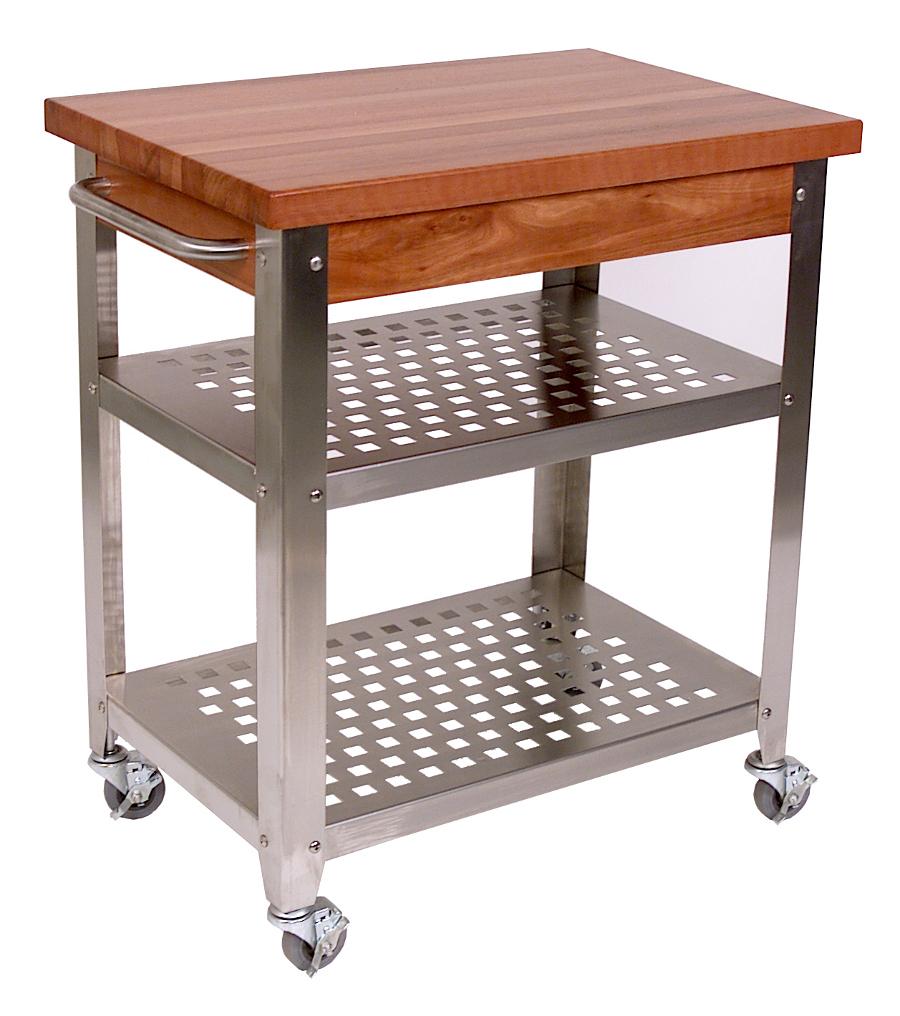 John Boos Maple And Stainless Cucina Elegante Kitchen Cart: CHY-CUCR3020 John Boos Cucina Rosato Cart