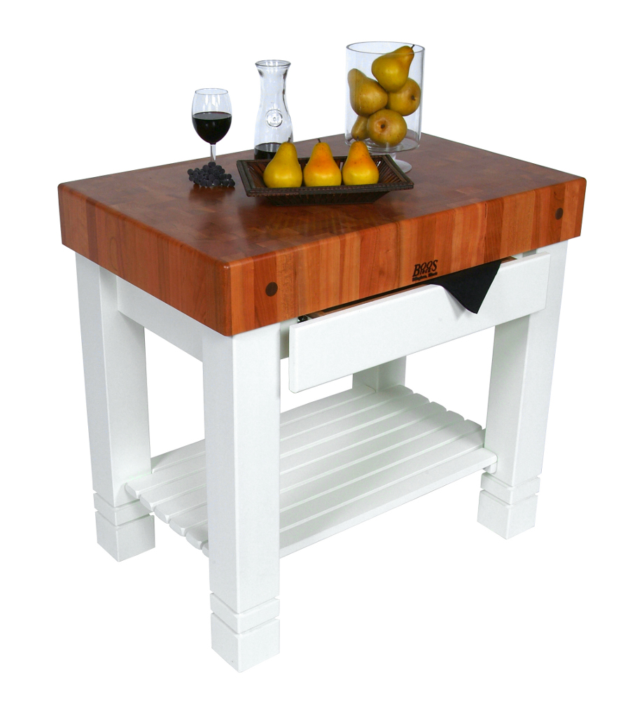 Boos Cherry Homestead - Cherry Butcher Block on Alabaster Base