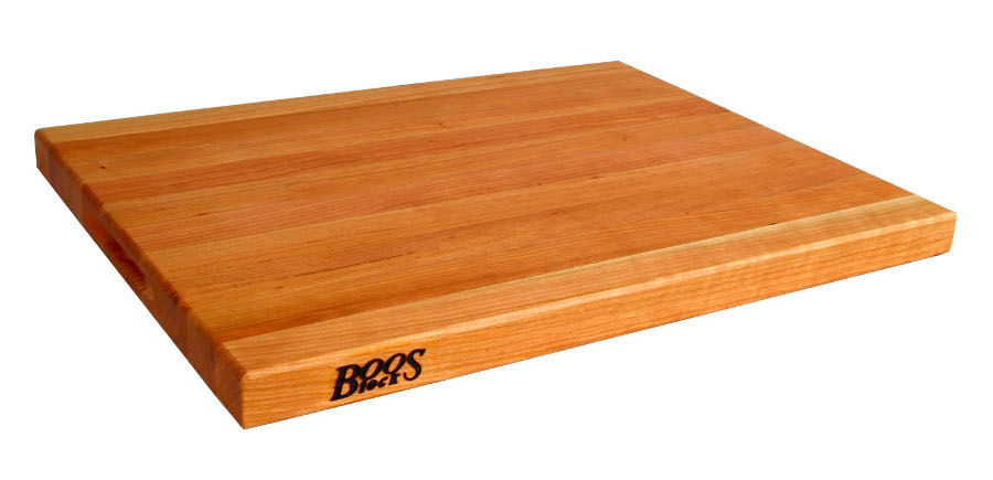 Butcher Block Cutting Boards ~ Boos reversible cherry butcher block cutting board