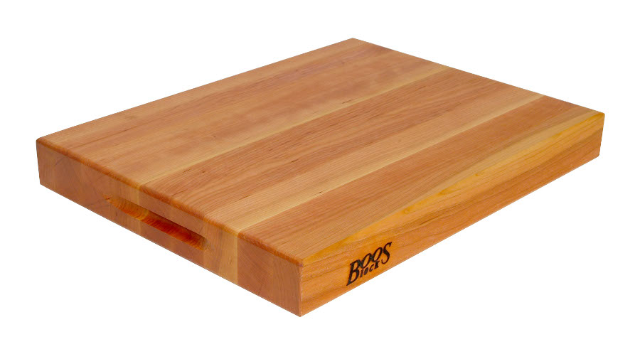 Boos Cherry Cutting Board with Grips - 2-1/4