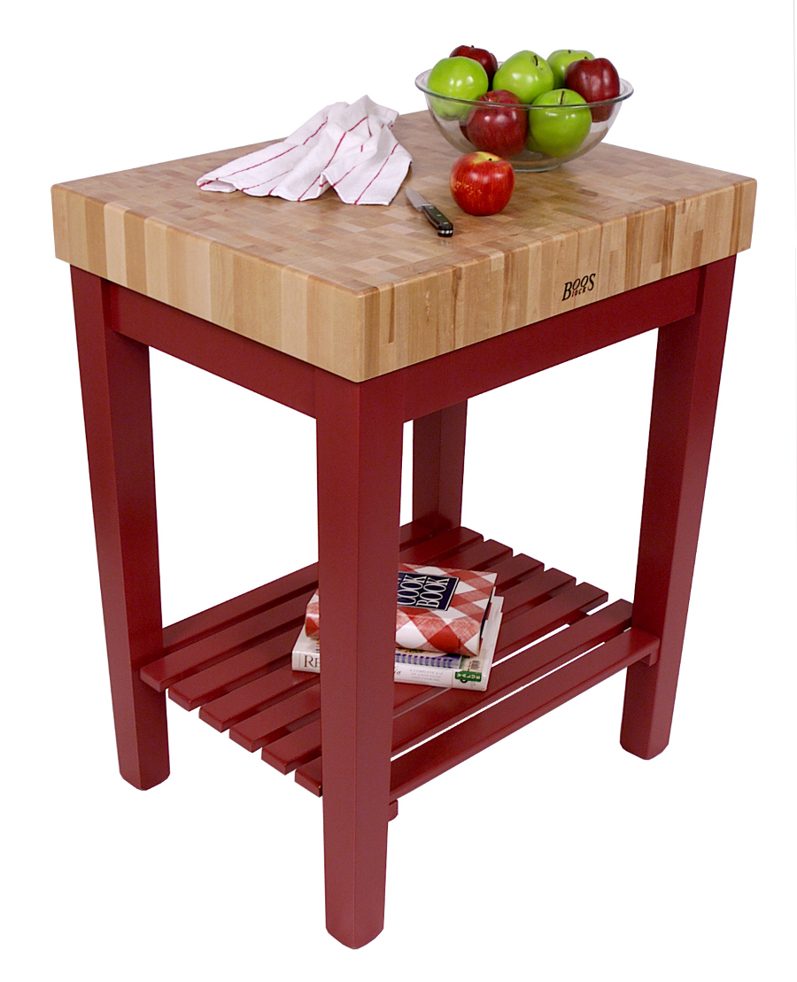 John Boos Chef's Block with Maple Butcher Block & Slatted Shelf