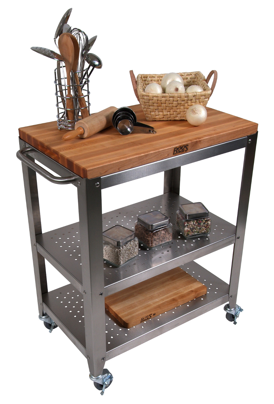 Boos Cucina Culinarte Cart – Removable Butcher Block Top