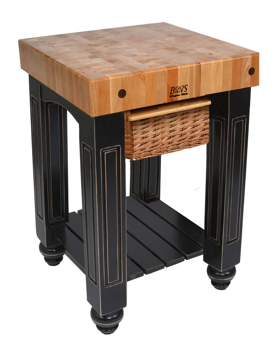Boos Gathering Block I - 25x24 Butcher Block Top, Basket Drawer