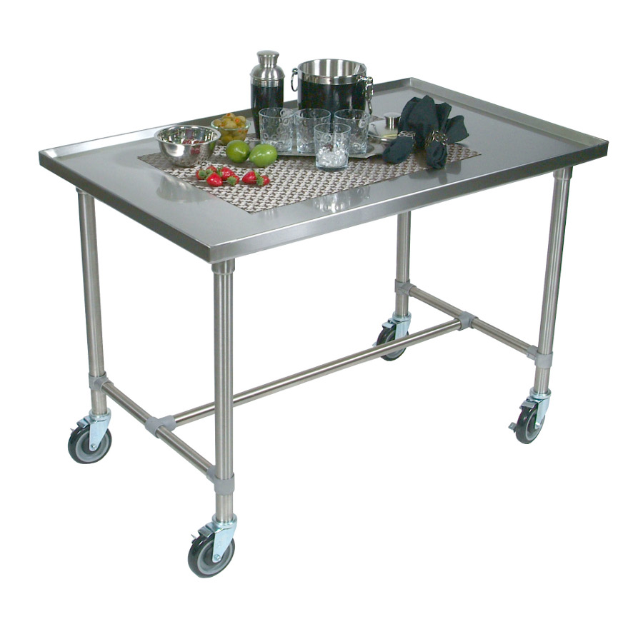 John Boos Cucina Mariner Stainless Steel Serving Cart - Marine Edge, 40