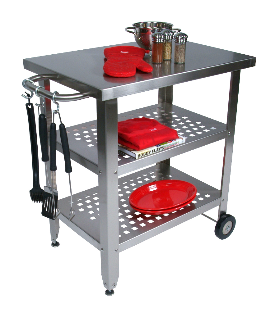 John Boos Stainless Steel-Top Cucina Avanti Barbecue Cart - 30