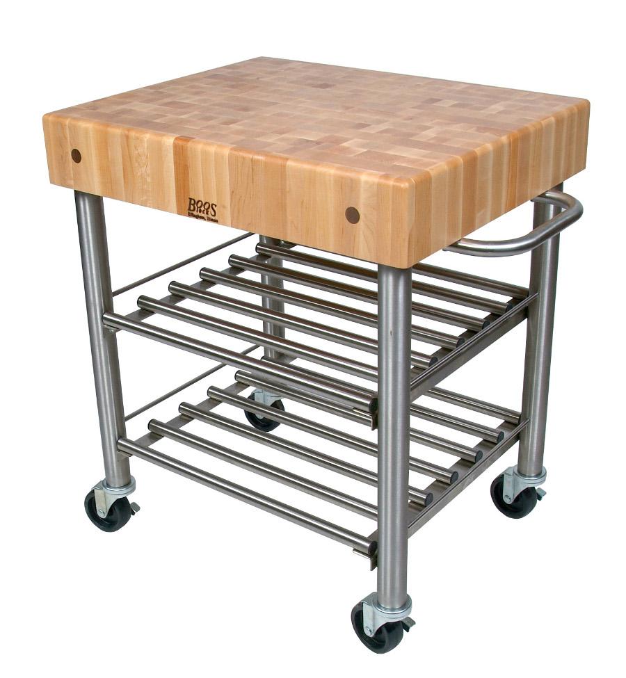 john boos cucina d 39 amico butcher block wine cart. Black Bedroom Furniture Sets. Home Design Ideas