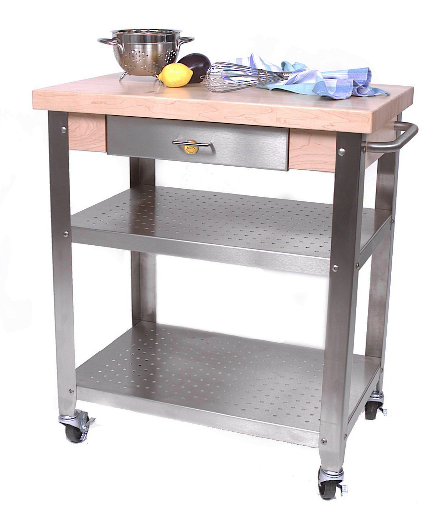 John Boos Maple Cucina Elegante Cart - Optional Drop Leaves