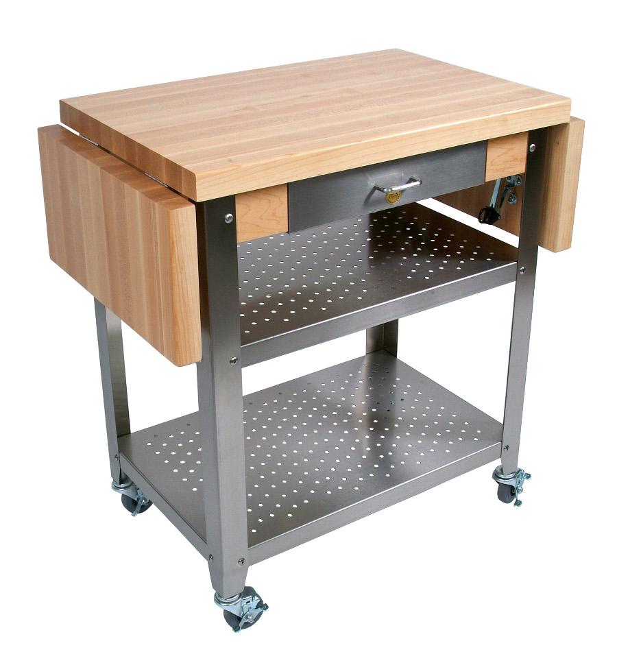 John Boos Cucina Elegante Wood-Steel Kitchen Cart