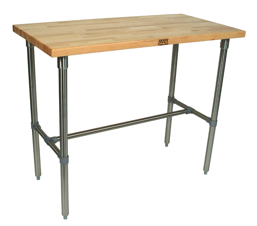 John Boos Cucina Classico Maple & Stainless Steel Table