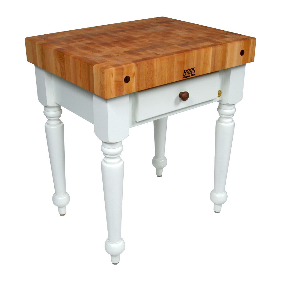 Boos Maple Rustica Butcher Block - Colorful Options for Base of Table