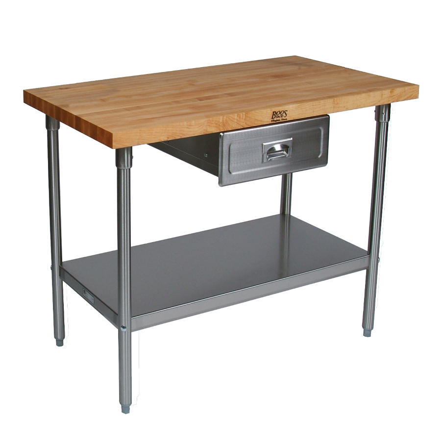 John Boos Cucina Grandioso Butcher Block Work Table Model CUCSN