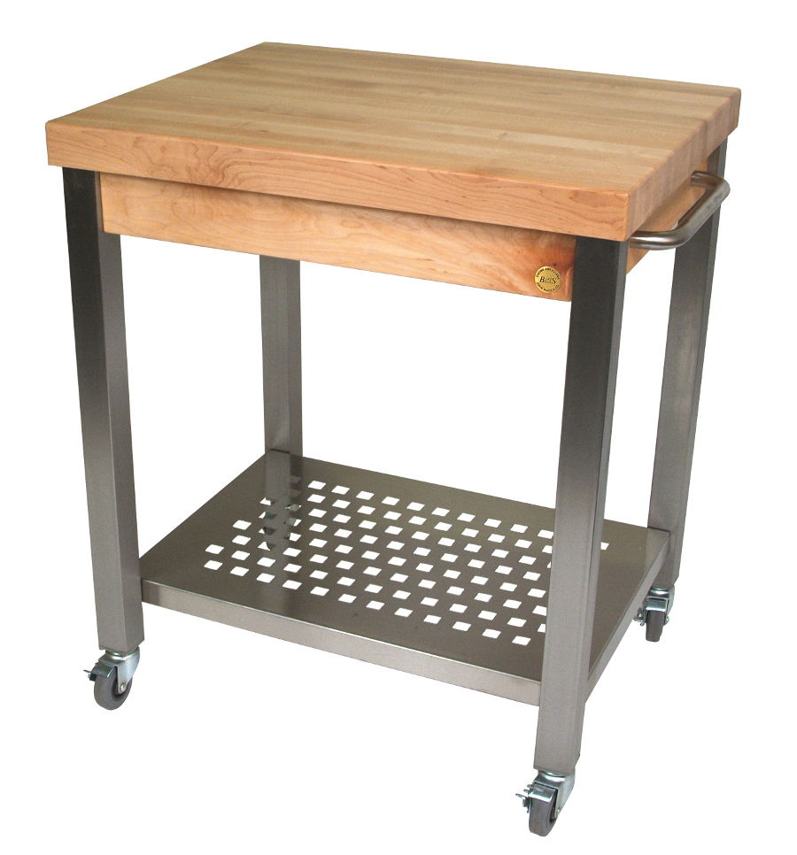 "John Boos Edge-Grain Cucina Technica Cart – 2-1/4"" Butcher Block"