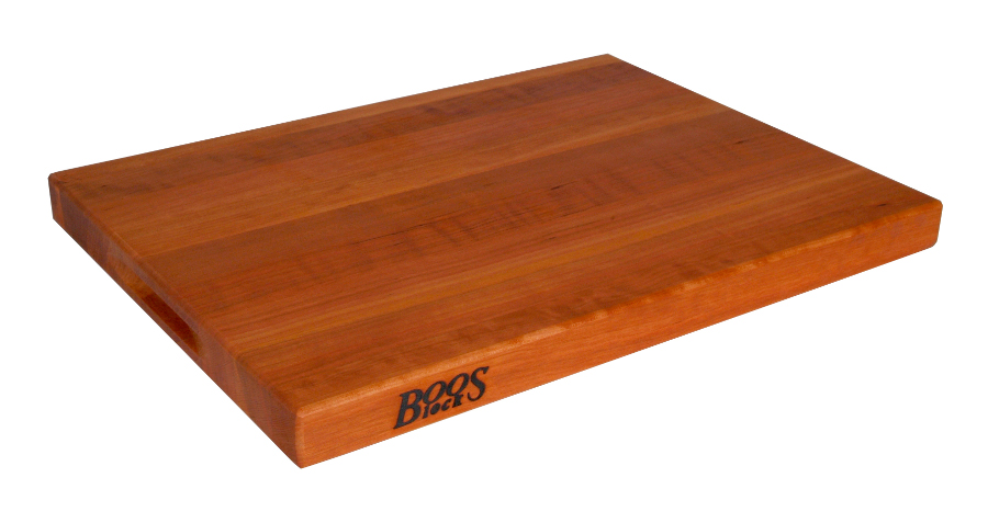 Boos Reversible Cherry Cutting Board w/ Hand Grips - 3 Sizes