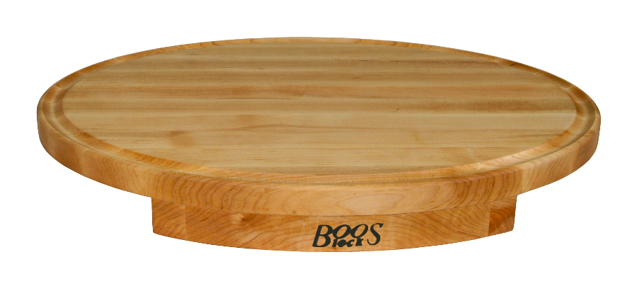 Boos Corner Counter-Saver Cutting Board - Maple, 24 x 18 Oval