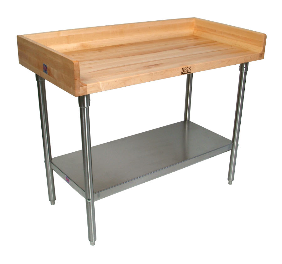 John Boos Maple Top Work Table With Riser Amp Stainless