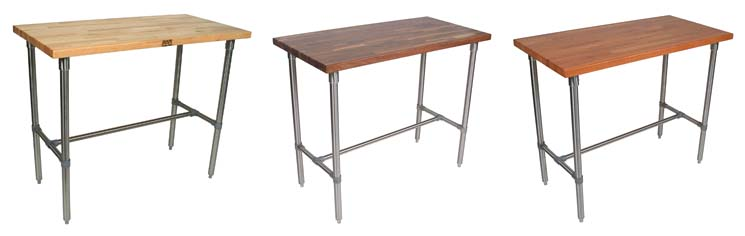Boos butcher block tables