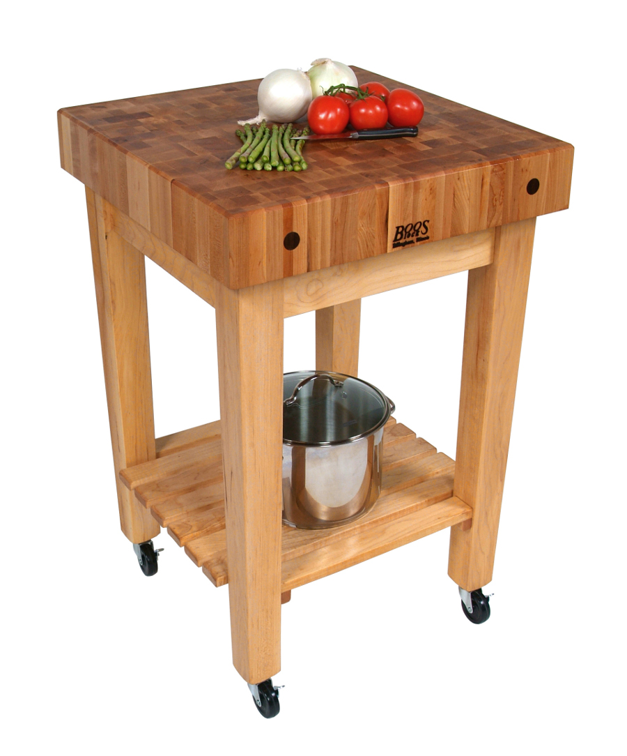 John Boos Gourmet Block – Maple Butcher Block Stand or Cart
