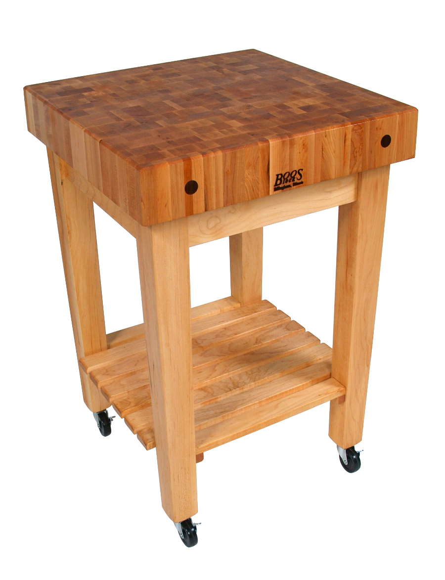 john boos gourmet block butcher block stand cart