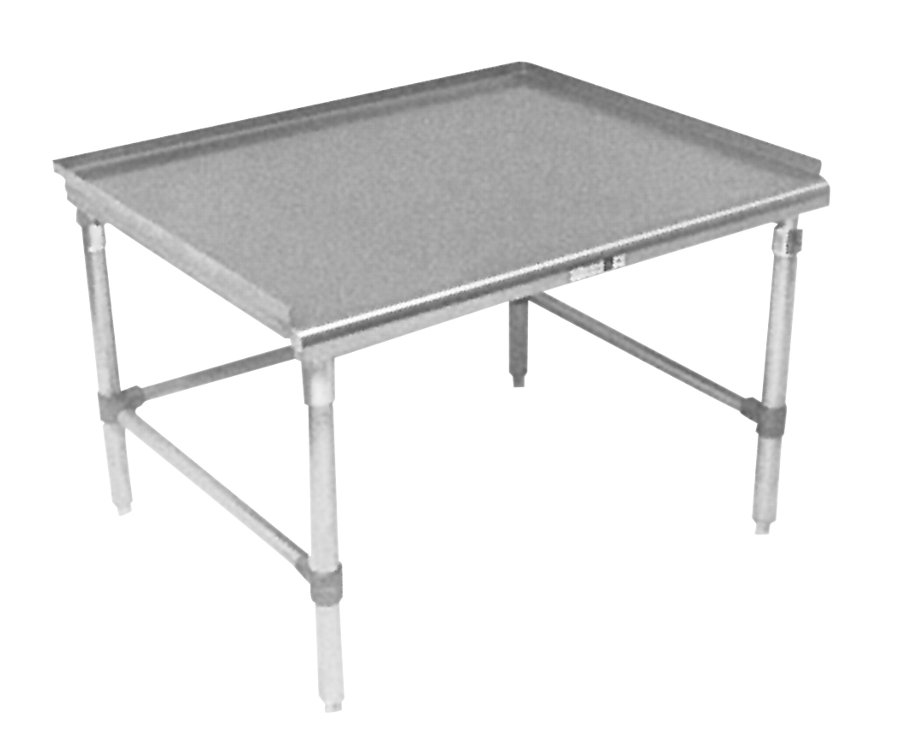 Boos Equipment Stand - 16-Gauge Stainless Steel Top & Legs, Mini Risers