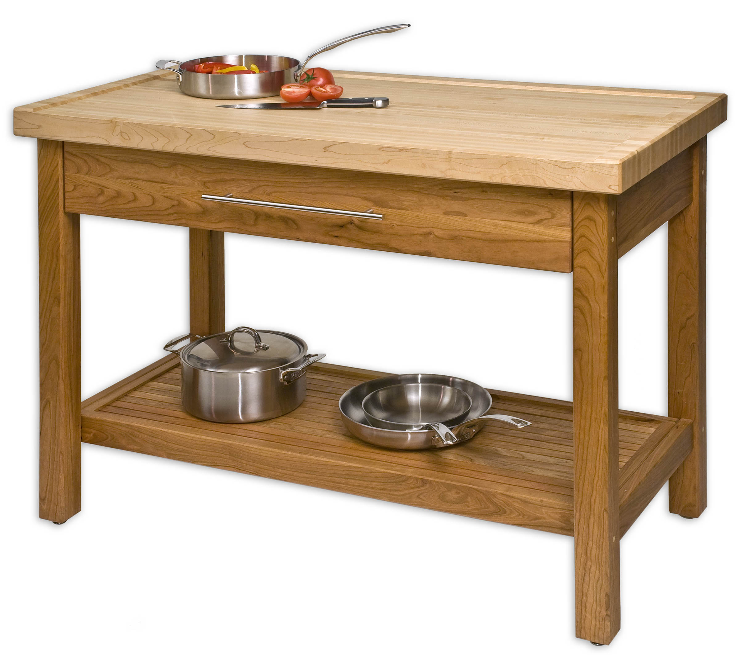 Butcher block table butcher block kitchen tables for Kitchen island table