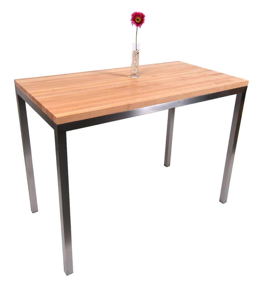 Boos Maple & Stainless Steel Metropolitan Center Table