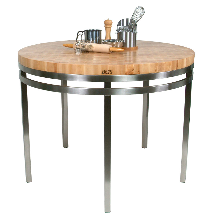 metropolitan oasis butcher block kitchen island table