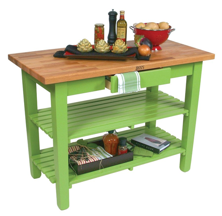 "Boos ""OC"" Oak Country Table – Blended Butcher Block, Many Sizes/Colors"