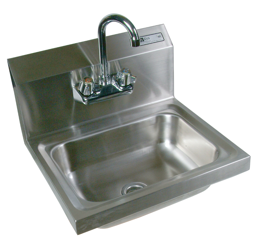 Hand Sink : John Boos Wall-Mounted Stainless Steel Hand Sink - 14